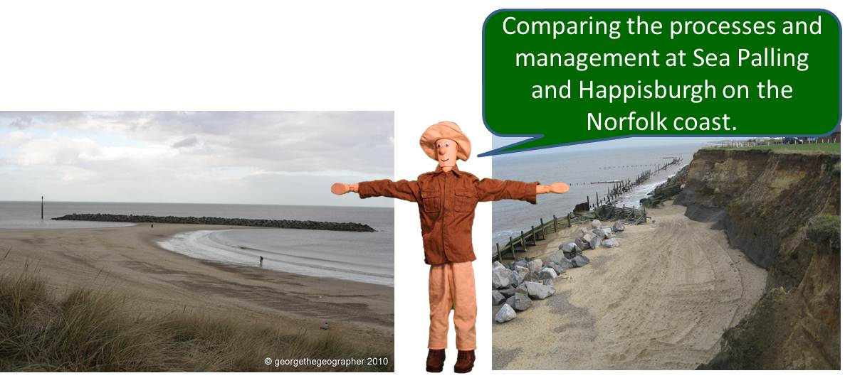 Comparing the erosion and management at Sea Palling and Happisburgh on the Norfolk coast